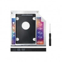 Nanocable 10.99.0101 Adaptador metálico HDD de 7 mm para drive ótica de portátil de 9,5 mm