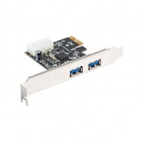 Lanberg PCE-US3-002 Placa PCI-E a 2 portas USB 3.1 low profile